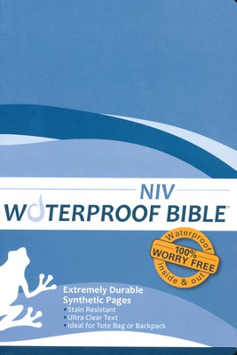 NIV Waterproof Bible, Blue Wave  -
