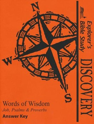 Bible Discovery: Words of Wisdom, Answer Key   -