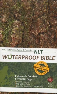 NLT Waterproof Bible New Testament with Psalms & Proverbs, Camouflage  -