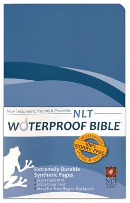 NLT Waterproof Bible New Testament with Psalms & Proverbs, Blue Wave  -