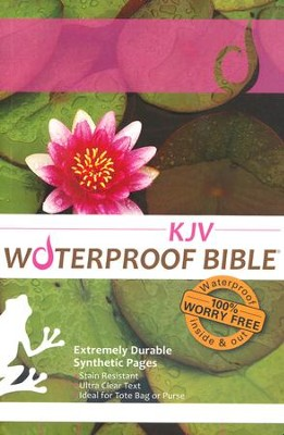 KJV Waterproof Bible, LilyPad  -