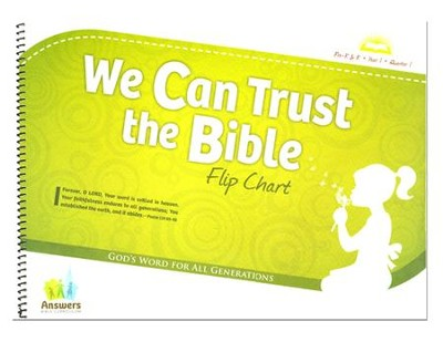 Answers Bible Curriculum: We Can Trust the Bible Preschool Flip Chart Year 1 Quarter 1  -