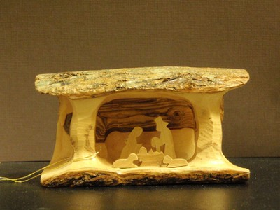 Small Olive Wood Nativity   -