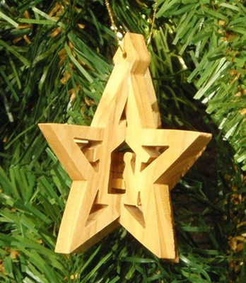 3D Nativity in Star Ornament  -