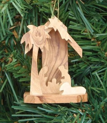 Nativity Ornament with Extended Base, Small  -