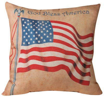 God Bless America Pillow  -