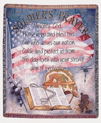 Soldier's Prayer, Tapestry Throw   -