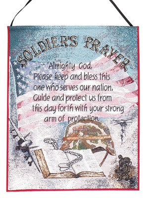 Soldier's Prayer, Tapestry Wall Hanging   -