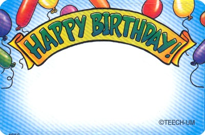 Name Tags: Happy Birthday  -