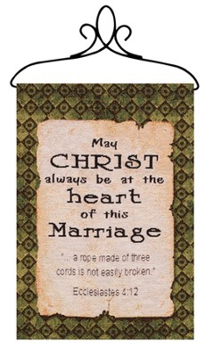 May Christ Be at the Heart of This Marriage, Banner   -