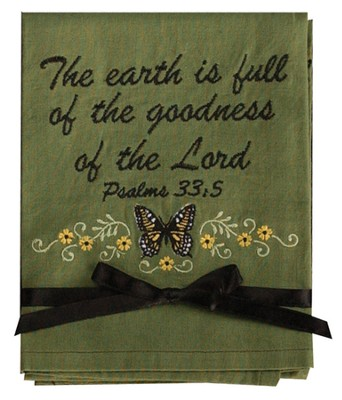 The Earth Is Full Of the Goodness Hand Towel  -