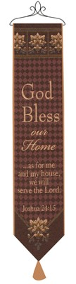 God Bless Our Home Bellpull  -