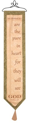 Blessed Are the Pure in Heart Bellpull  -