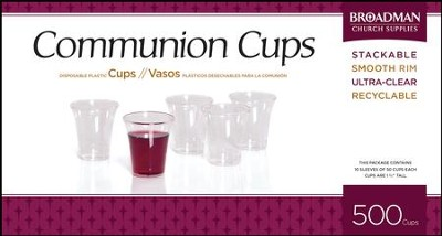Plastic Communion Cups, 500   -