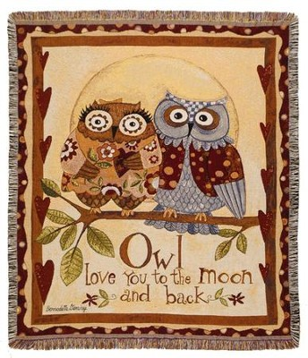 Owl Love You To the Moon and Back Throw  -     By: Bernadette Deming