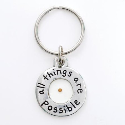 All Things Possible, Mustard Seed Keyring  -