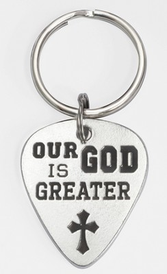 Our God Is Greater Keyring   -