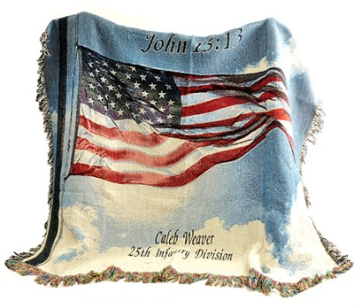 Personalized, A Salute To Our Soldiers Throw   -