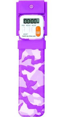 Bookmark Timer, Booklight, Pink Camo  -