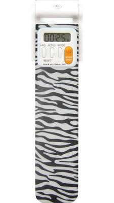 Bookmark Timer, Booklight, Zebra  -