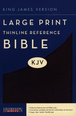 KJV Large Print Thinline Reference Bible Flexisoft Black - Imperfectly Imprinted Bibles  -
