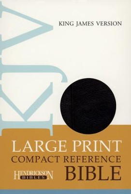 KJV Compact Reference Bible, Large Print, Black Imitation Leather, Magnetic Flap   -