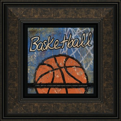 Basketball, Goals and Ambitions Framed Print  -