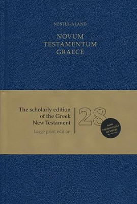 Novum Testamentum Graece, Nestle-Aland 28th Edition- Large Print, hardcover  -     By: Ernst Mayr