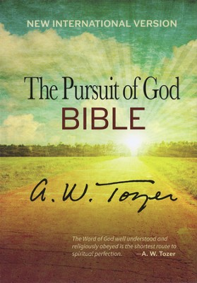 The Pursuit of God Bible, New International Version, Black Genuine Leather  -     By: A.W. Tozer