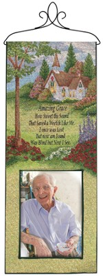 Amazing Grace Wall Panel with Photo Pocket  -