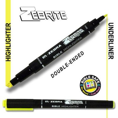 Zebrite Double End Marker, Yellow   -