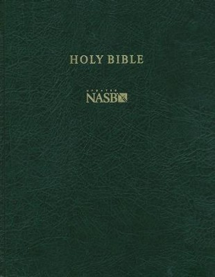 NASB Wide-Margin Reference Bible, Hardcover, green  -