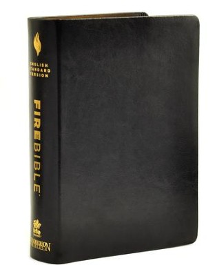 ESV Fire Bible, Genuine leather Black   -