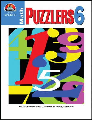 Math Puzzlers Grade 6  -