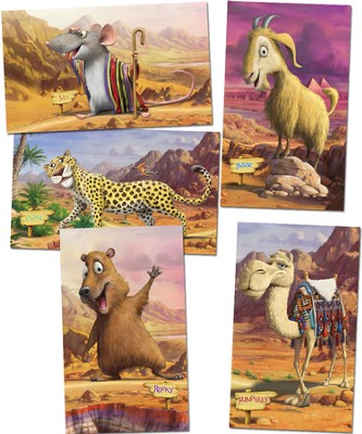 Giant Bible Memory Buddy Posters, set of 5  -