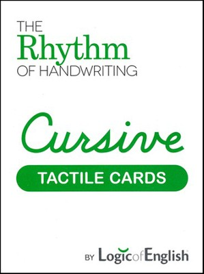 Rhythm of Handwriting Cursive Tactile Cards   -