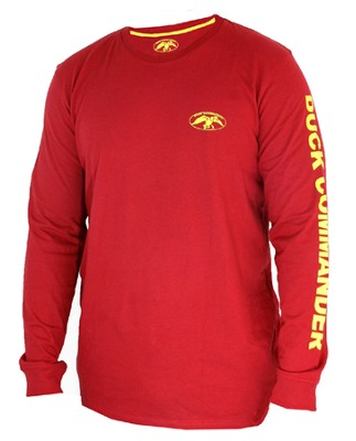 Duck Commander Shirt, Long Sleeve, Red, Small  -