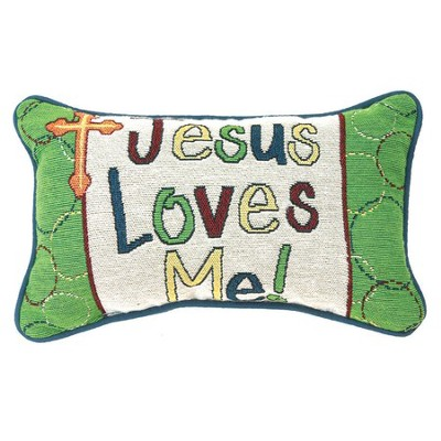 Jesus Loves Me Pillow  -