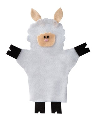 Bethlehem Bound Scene 4 Craft Pack: Shepherd's Sheep Puppets 10-pack  -