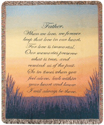 Forever a Father Bereavement Throw  -