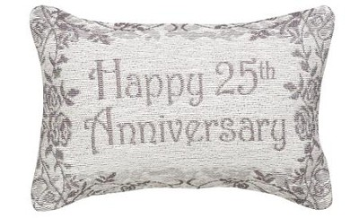 Happy 25th Anniversary, Never Ending Love Pillow  -