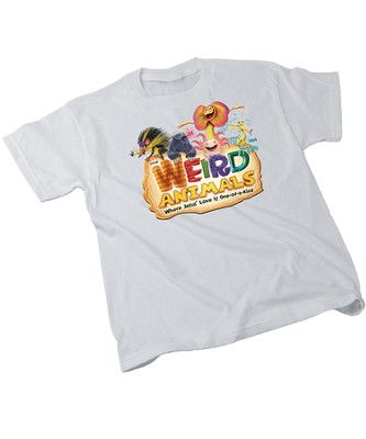 Weird Animals Theme Adult T-Shirt, Medium (38-40)  -