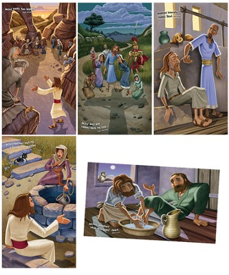 Bible Story Posters, set of 5  -