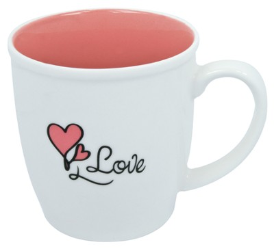 Love Mug, White and Pink  -