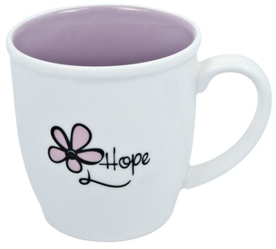 Hope Mug, White and Purple  -