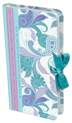 Be Strong Notebook with Ribbon Closure  -