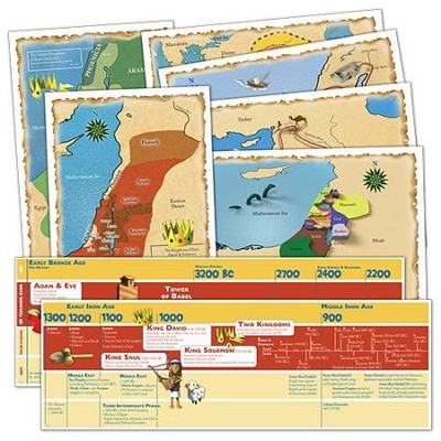 God's Great Covenant Old Testament Timeline and Map Set  -