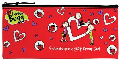 Friends Are A Gift Pencil Case, Red  -