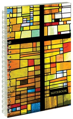 Stained Glass Cross Notebook  -