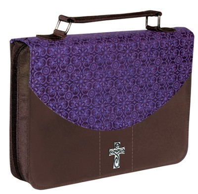 Bible Cover, Purple, Large  -